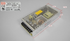 Switching power supply, Mean well, NES-150-12V, input 100-240V, output 12V 12.5A