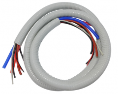 German hose Vacunflex with cables and tubes