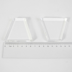 Light guide, BK7, trapezium, 12mm*30mm*50mm*57mm, without coating
